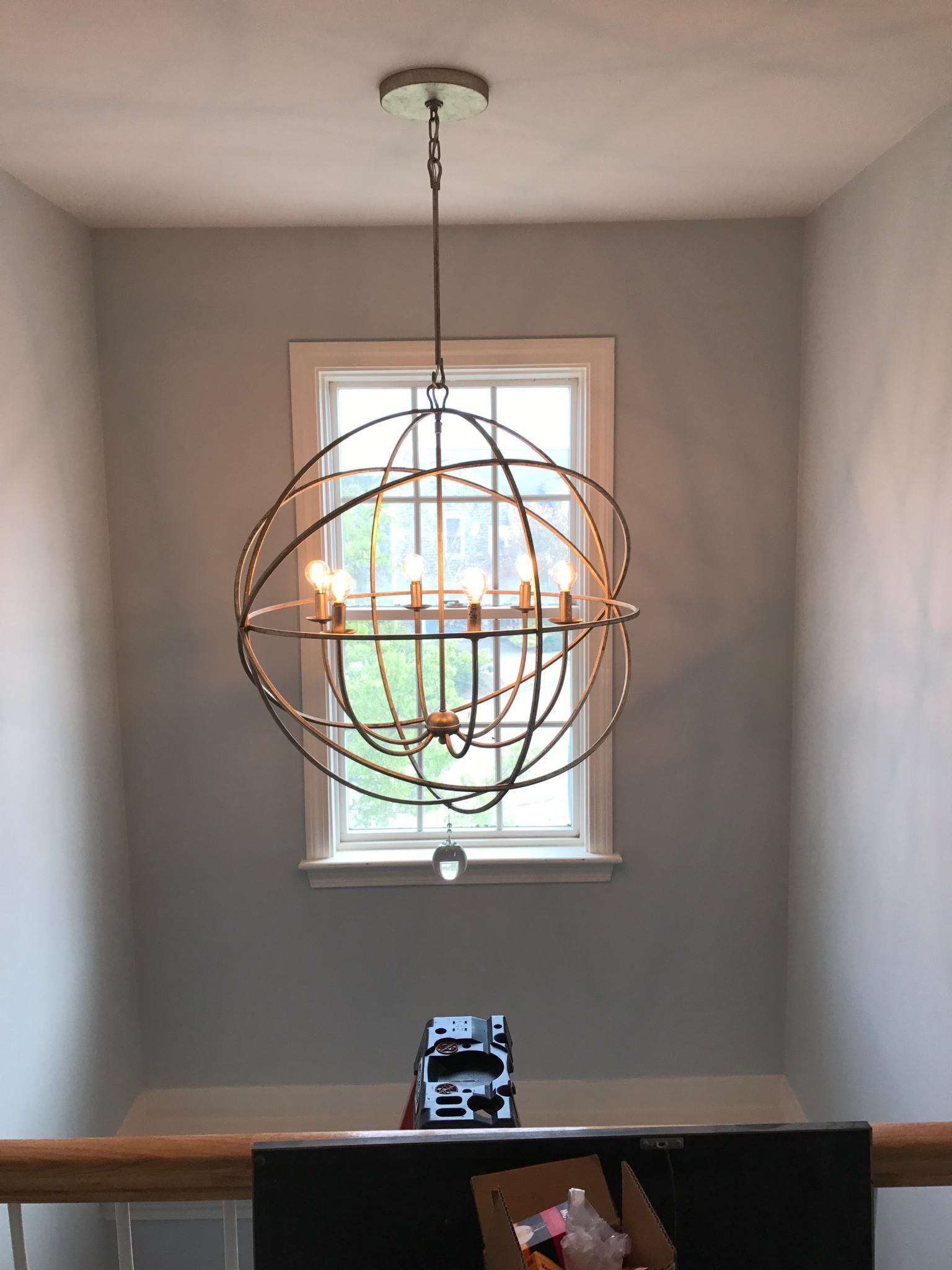 Chandelier installation wellington r soares electrician inc chandelier installation arubaitofo Images